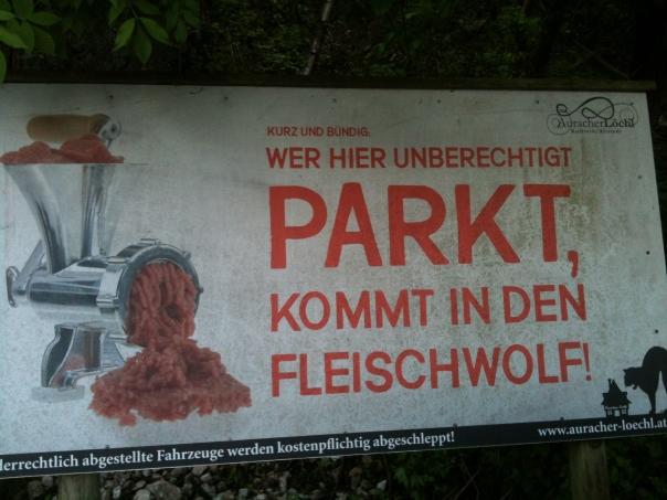 Raue (Park-)Sitten in Kufstein
