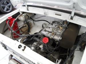 Blick in den Motorraum des Skoda 130 RS Foto Huber