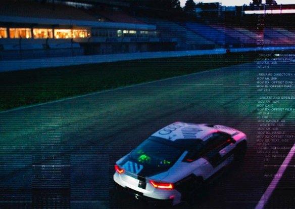 Audi RS 7 piloted driving concept auf dem Hockenheimring.