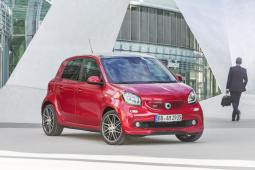 smart BRABUS forfour Xclusive, 2016, red