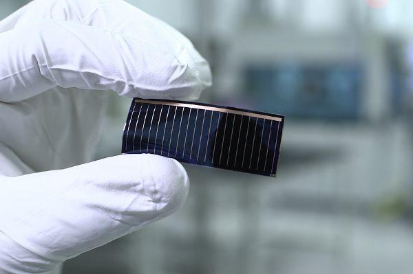 Solarzelle fürs Autodach. Foto: Audi