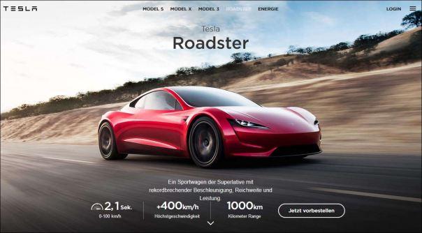 Tesla Roadster Foto: Tesla
