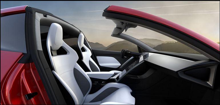 Tesla Roadster Innenraum